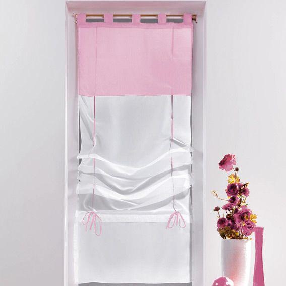 store voilage rose store int rieur eminza. Black Bedroom Furniture Sets. Home Design Ideas