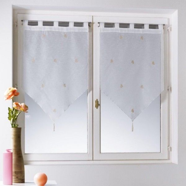 voilage vitrage largeur 45 cm rideau et voilage eminza. Black Bedroom Furniture Sets. Home Design Ideas