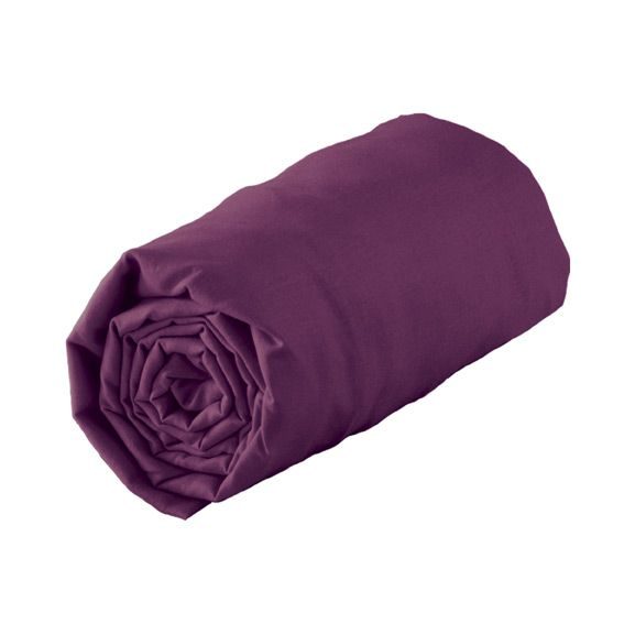 Linge de lit violet eminza - Drap housse 140x190 violet ...