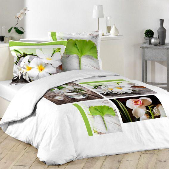 linge de lit style zen eminza. Black Bedroom Furniture Sets. Home Design Ideas