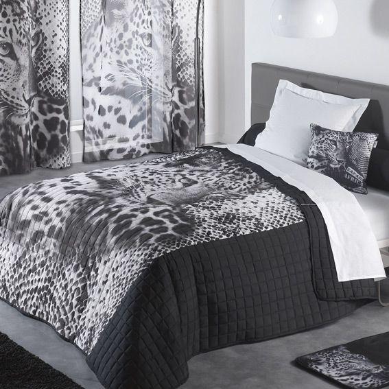 Couvre lit mat 220x240 microfibre imp leopard des place - Linge de lit cyrillus ...
