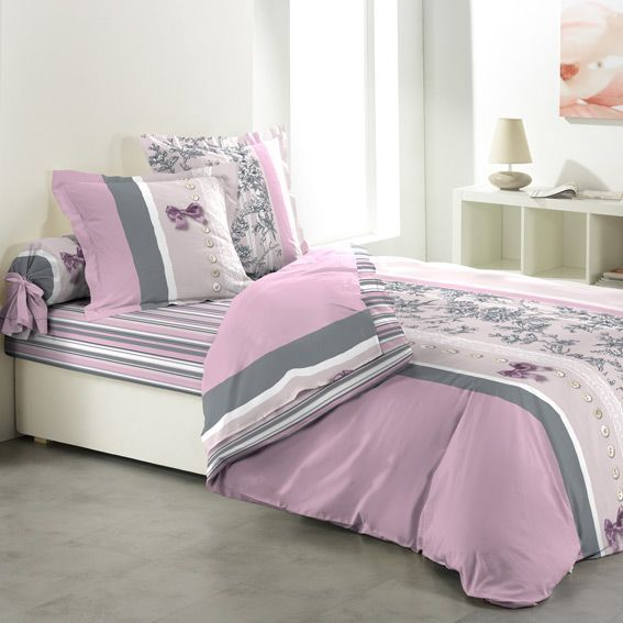 parure de couette compl te coton 240 cm 6 pi ces charmance linge de lit eminza. Black Bedroom Furniture Sets. Home Design Ideas