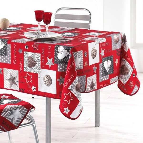 nappe rectangulaire l300 cm starly rouge nappe de table eminza. Black Bedroom Furniture Sets. Home Design Ideas