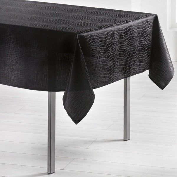 nappe rectangulaire l250 cm serpentile noir - Table Ovale Scandinave2543