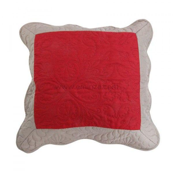 housse de coussin boutis 45 cm emma rouge coussin et. Black Bedroom Furniture Sets. Home Design Ideas