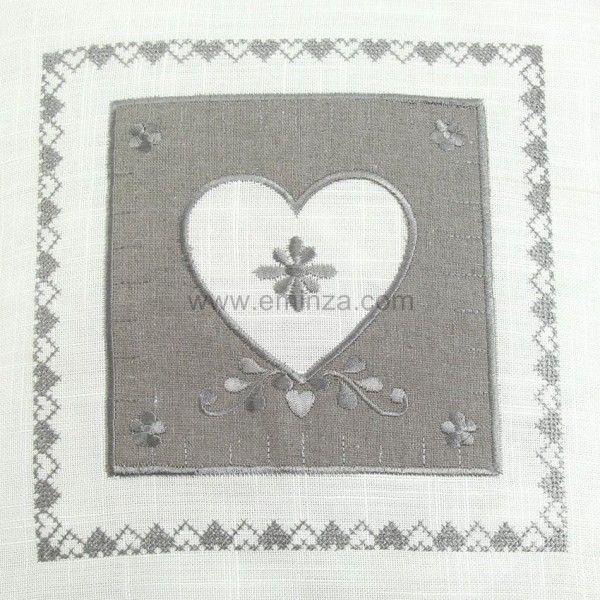 40x40 cm Couleur Montagne Amandine Housse de Coussin et Encart Polyester Blanc