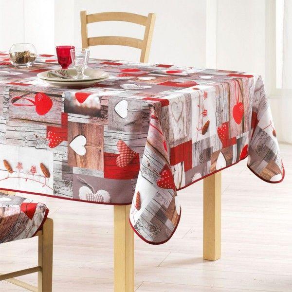 nappe rectangulaire l300 cm c ur nature nappe de table eminza. Black Bedroom Furniture Sets. Home Design Ideas