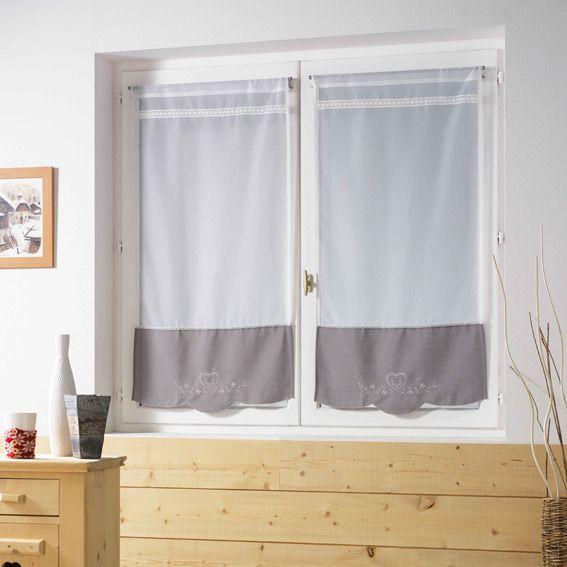 Voilage vitrage largeur 60 cm rideau et voilage eminza for Voilage cuisine 60 x 90