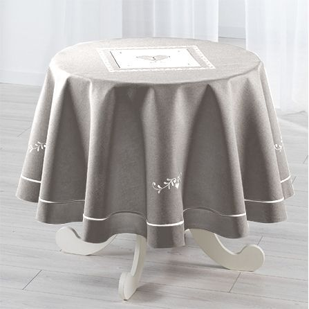 Nappe de table linge de table eminza - Table ronde nappe ...