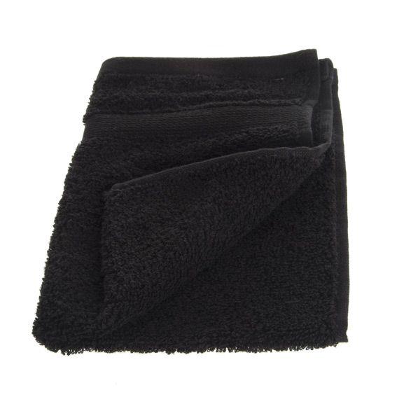 serviette de bain 30 x 50 cm vita noir serviette de bain eminza. Black Bedroom Furniture Sets. Home Design Ideas