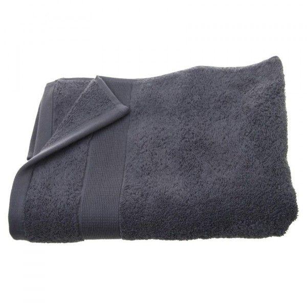 serviette de bain 70 x 130 cm vita anthracite serviette de bain eminza. Black Bedroom Furniture Sets. Home Design Ideas