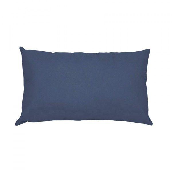 taie d 39 oreiller rectangulaire coton sup rieur confort bleu linge de lit eminza. Black Bedroom Furniture Sets. Home Design Ideas