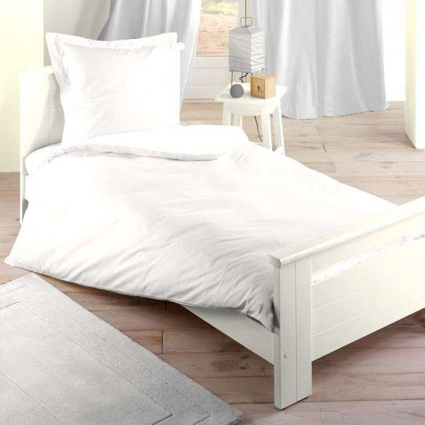 Housse de couette blanc linge de lit eminza - Carre blanc linge maison housse couette ...