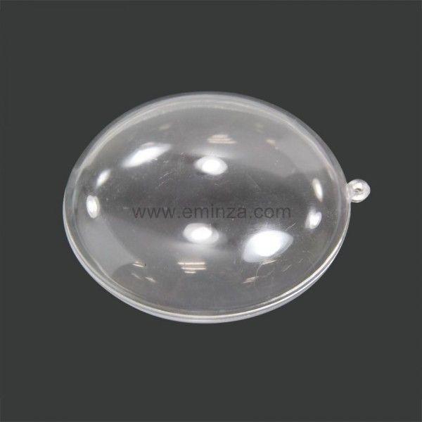 Lot de 6 boules plates � remplir Transparent