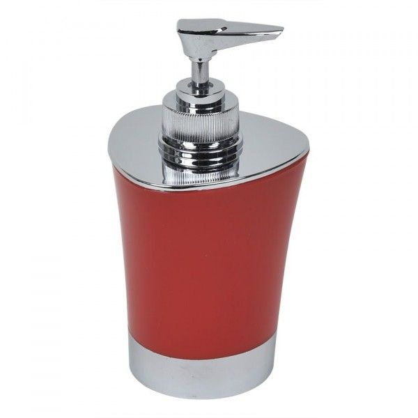 Distributeur de savon Happy Rouge - Accessoire Salle de bain - Eminza