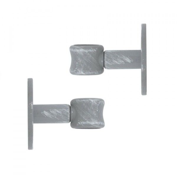 Lot de 2 supports simple (50 mm) Gris patiné