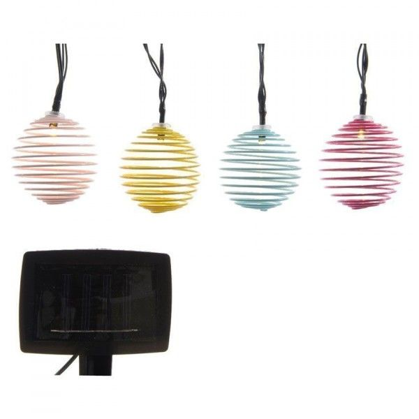 Guirlande solaire 10 LED Design - Multicolore