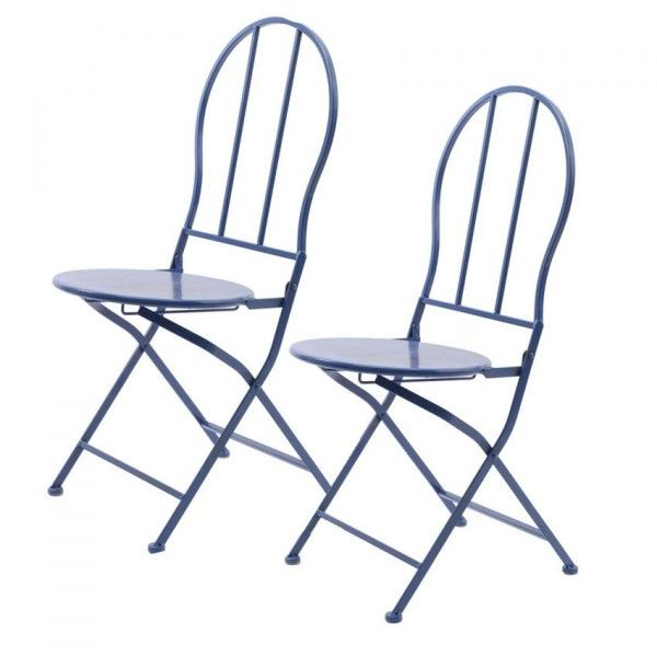 Lot de 2 chaises de jardin pliantes London