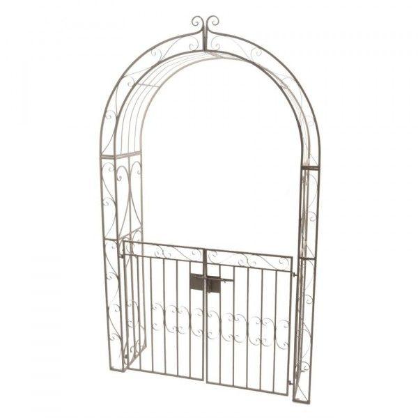 Arche de jardin lina style fer forg brun blanchi am nagement d 39 ext rieur eminza - Arche de jardin en fer forge ...