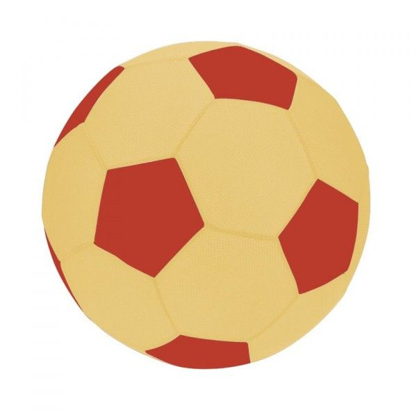 Ballon de foot gonflable Jaune