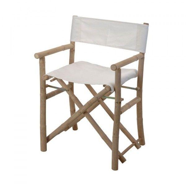 lot de 2 fauteuils rgisseur bambou blanc - Fauteuil Bambou