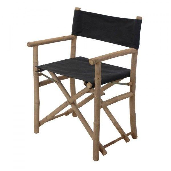 lot de 2 fauteuils de jardin rgisseur bambou noir - Fauteuil Bambou