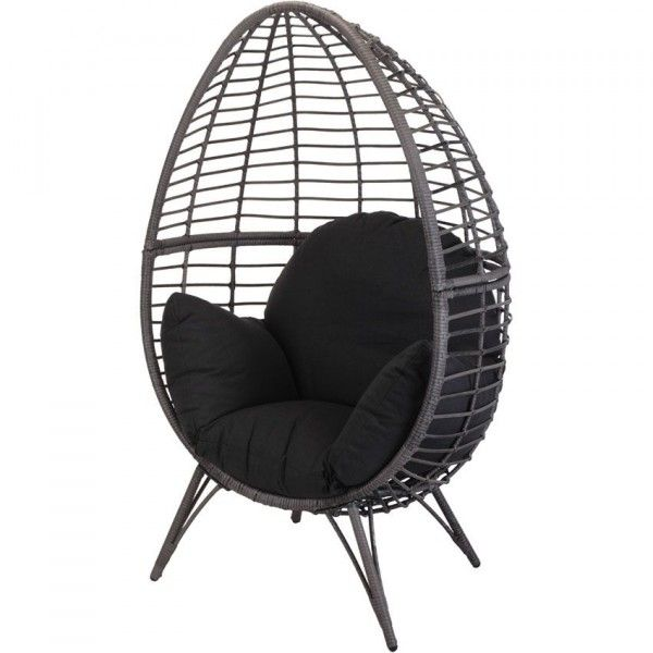 fauteuil cocoon noir bain de soleil et hamac eminza. Black Bedroom Furniture Sets. Home Design Ideas
