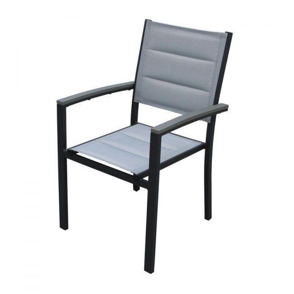 fauteuil de jardin empilable amazonia gris anthracite chaise et fauteuil de jardin eminza. Black Bedroom Furniture Sets. Home Design Ideas