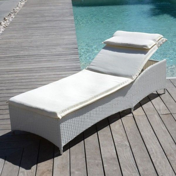 bain de soleil et hamac blanc eminza. Black Bedroom Furniture Sets. Home Design Ideas
