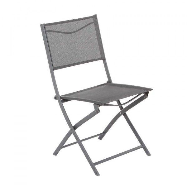 chaise de jardin modula ardoise - Chaise De