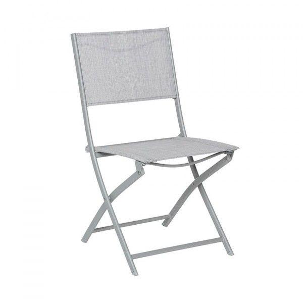 Chaise et fauteuil de jardin salon de jardin repas et - Chaise de jardin grise ...