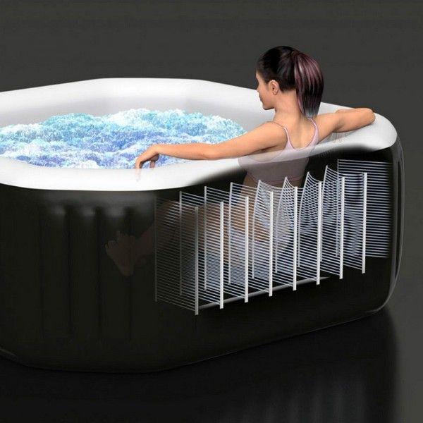 spa intex octogonal 4 personnes noir piscine spa et. Black Bedroom Furniture Sets. Home Design Ideas