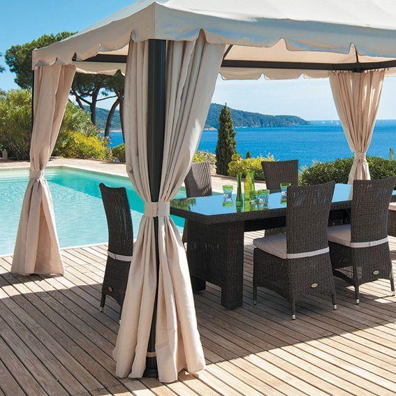 rideau pergola exterieur pour vos store lectriques with rideau pergola exterieur best une. Black Bedroom Furniture Sets. Home Design Ideas