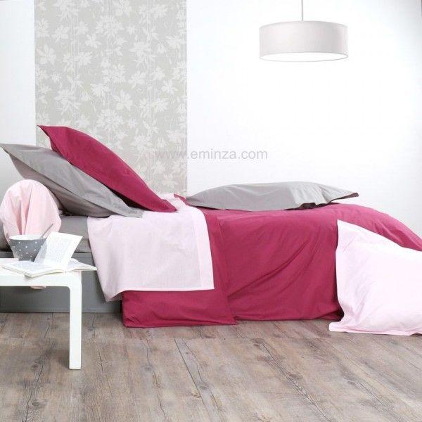 drap housse percale de coton 120 cm manoir gris linge de lit eminza. Black Bedroom Furniture Sets. Home Design Ideas