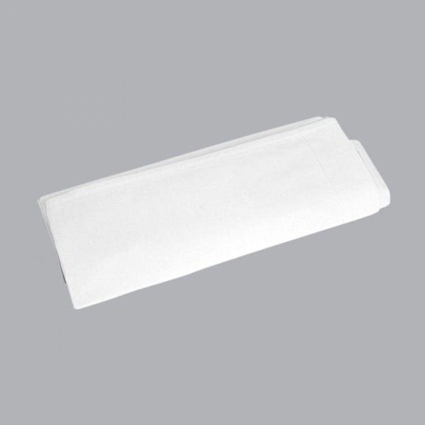 drap plat manoir percale de coton 180 cm blanc linge de lit eminza. Black Bedroom Furniture Sets. Home Design Ideas
