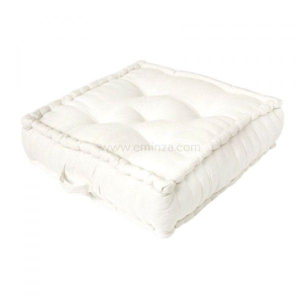 grand coussin de sol 60 cm etna ivoire d co textile. Black Bedroom Furniture Sets. Home Design Ideas