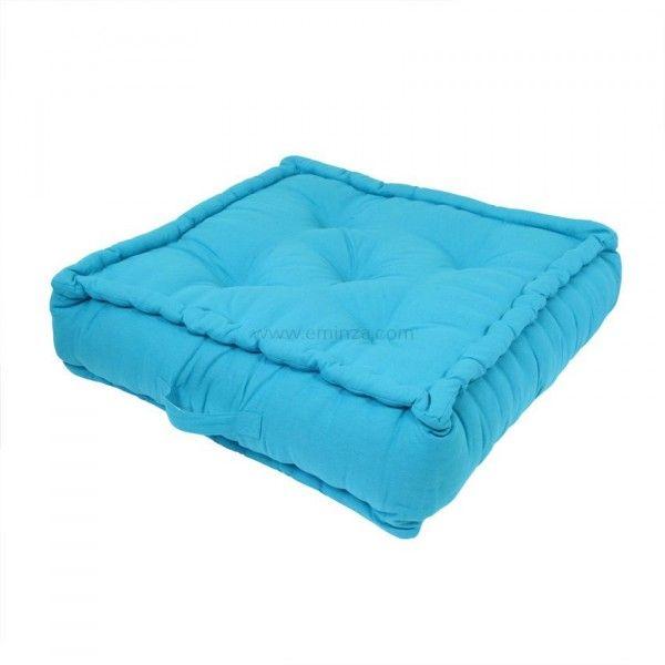Grand coussin de sol (60 cm) Turquoise -
