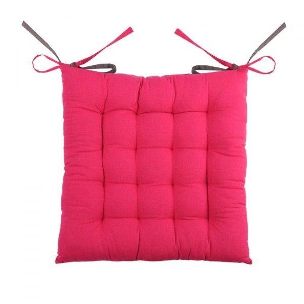 Coussin de chaise Bicolore Gris et Fuchsia