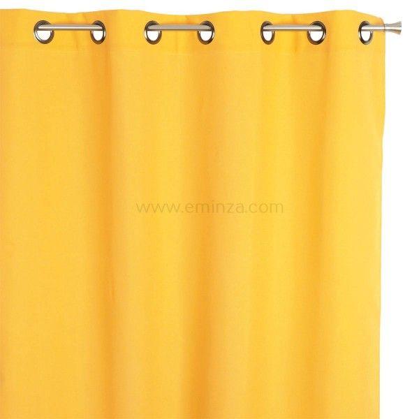 Rideau tamisant (135 x H240 cm) Nelson Jaune - Rideau / Voilage ...