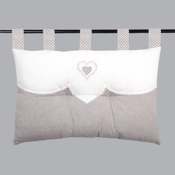 t te de lit 70 cm verone lin linge de lit eminza. Black Bedroom Furniture Sets. Home Design Ideas