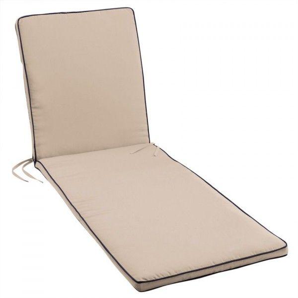 coussin bain de soleil garden duo taupe coussin et matelas pour mobilier eminza. Black Bedroom Furniture Sets. Home Design Ideas