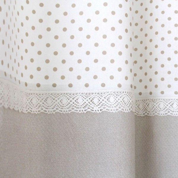 Rideau tamisant (140 x H240 cm) Romantique dentelle Lin - Rideau ...
