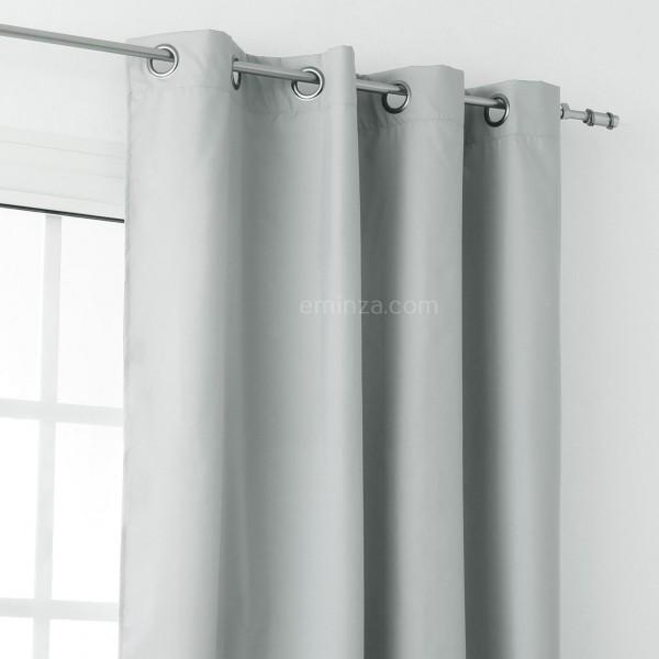 rideau thermique 140 x h250 cm sun gris rideau. Black Bedroom Furniture Sets. Home Design Ideas