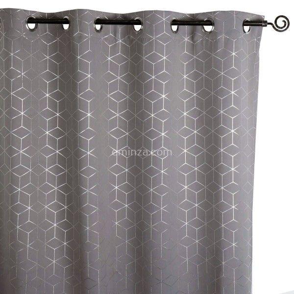 rideau occultant (140 x h250 cm) metallia gris - rideau / voilage