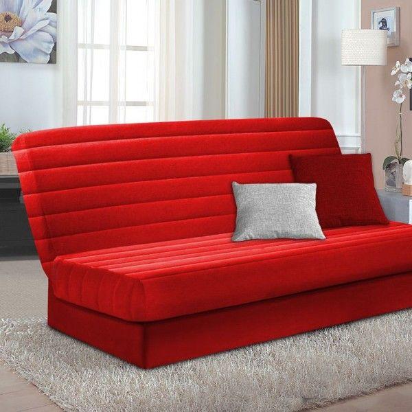 Housse de canap chaise rouge eminza - Housse clic clac rouge ...