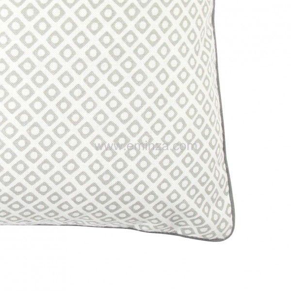 housse de coussin palacio gris clair coussin et housse de coussin eminza. Black Bedroom Furniture Sets. Home Design Ideas