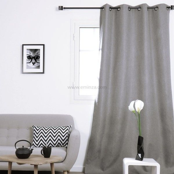 rideau occultant rideau et voilage eminza. Black Bedroom Furniture Sets. Home Design Ideas