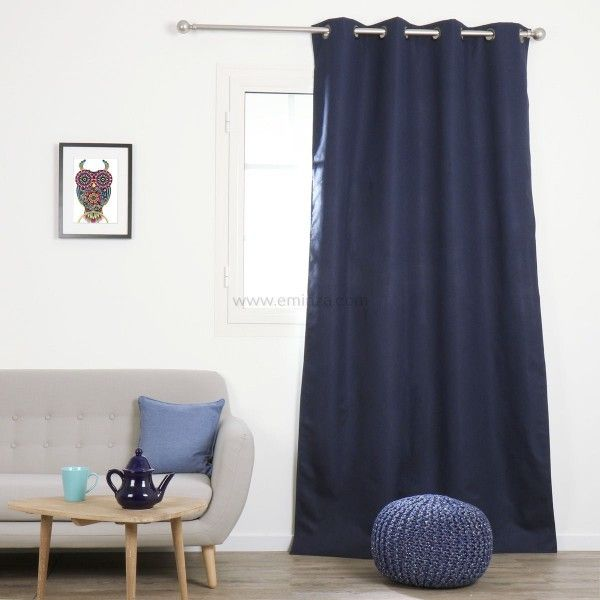Rideau occultant rideau et voilage eminza - Rideau bleu roi ...