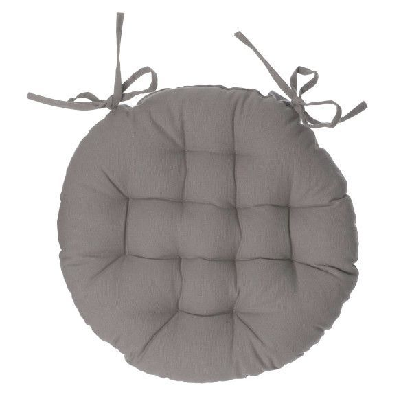 Coussin de chaise ronde Datara Taupe