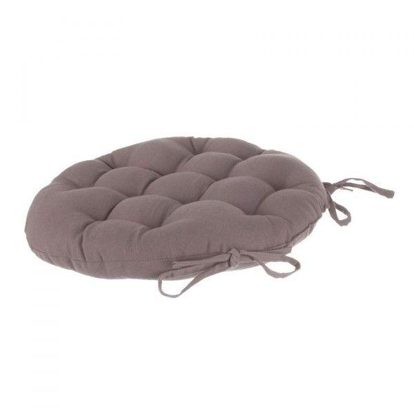 coussin de chaise ronde lina taupe galette et coussin de chaise eminza. Black Bedroom Furniture Sets. Home Design Ideas